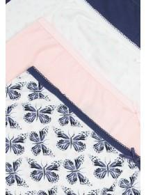 Womens 4pk Blue Butterfly Shorts