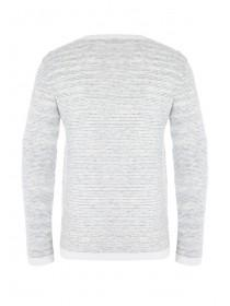 Mens Grey Striped Jumper