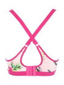 Womens Pink Printed Sports Bra