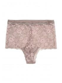 Womens Mocha Pink Wide Lace Briefs