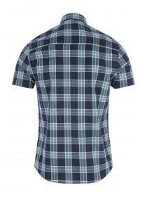 Mens Navy Check Shirt