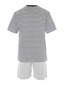 Mens Black Stripe Pyjama Set