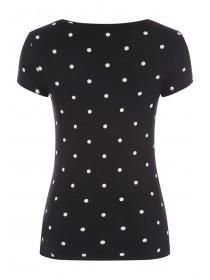 Womens Monochrome Spot T-Shirt