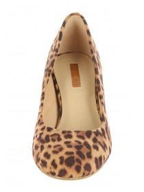 Womens Mid Brown Square Toe Shoes