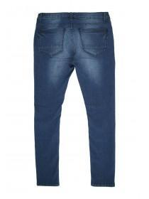 Mens Mid Blue Basic Skinny Jeans