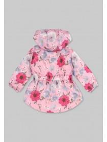 Younger Girls Floral Fleece Lined Cagoule
