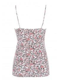 Womens Coral Floral Cami Top