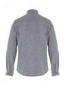 Mens Light Grey Denim Shirt