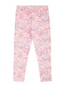 Younger Girls Pink Unicorn Leggings