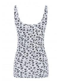 Womens Monochrome Floral Printed Vest