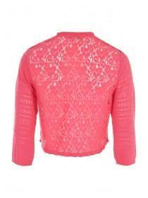 Womens Pink Cropped Cardigan