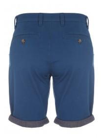 Mens Dark Blue Chino Roll Shorts