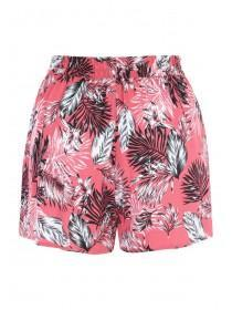 Womens Coral Floral Shorts