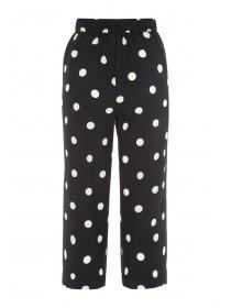 Womens Monochrome Spot Culotte Trousers