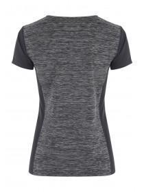 Womens Grey Space Dye Sports Top
