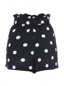 Womens Monochrome Spot Shorts