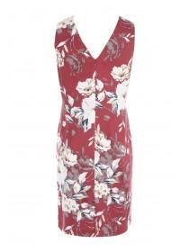 Womens Dark Pink Floral Dress