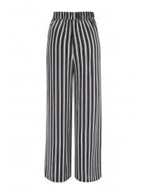 Womens Monochrome Stripe Wide Leg Trousers