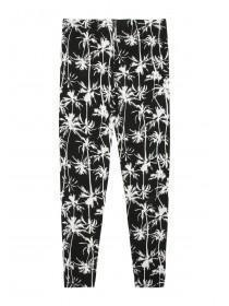 Older Girls Monochrome Palm Leggings