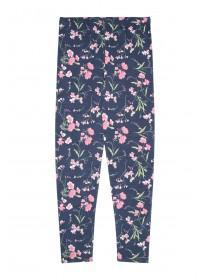 Older Girls Blue Floral Leggings