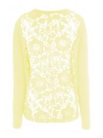 Womens Lemon Lace Back Cardigan