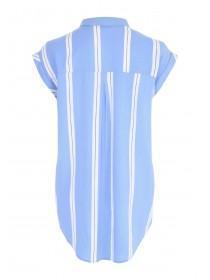 Maternity Blue Stripe Shirt