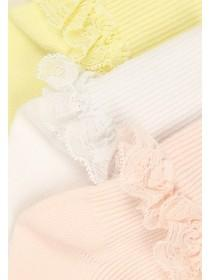 Baby Girls 3pk Frill Socks