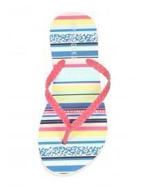 Womens Multicolour Stripe Flip Flops