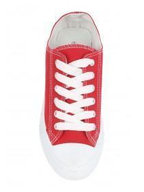 Womens Red Toe Cap Trainers