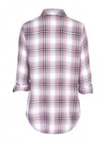 Womens Lilac Check Shirt