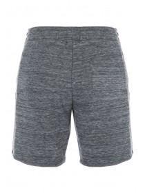 Mens Grey Marl Zip Detail Shorts
