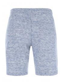 Mens Blue Marl Zip Detail Shorts