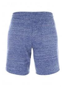 Mens Navy Marl Zip Detail Shorts