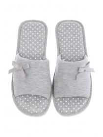 Womens Grey Spa Style Slipper