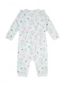 Baby Girls Grey Floral Jumpsuit