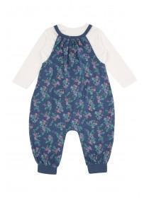 Baby Girls Floral Jumpsuit Set