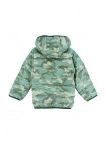 Younger Boys Khaki Camo Padded Jacket
