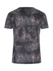 Mens Khaki Printed T-Shirt