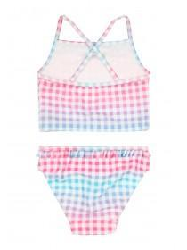 Younger Girls Multicolour Gingham Tankini