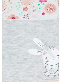 Baby Girls 2pk Bunny Bibs