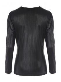 Womens ENVY Puff Sleeve Foil Top