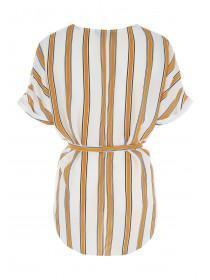 Womens Mustard Stripe Tunic Top