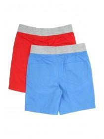Younger Boys 2pk Poplin Shorts