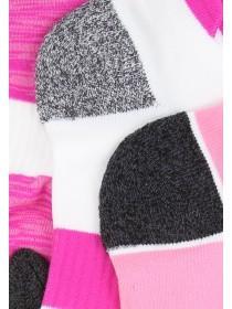 Womens 3pk Pink Sports Socks