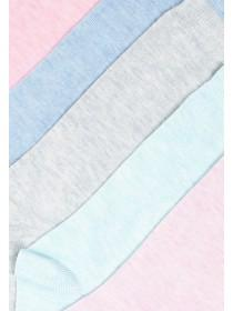 Womens 4pk Pastel Socks