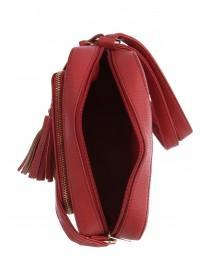 Womens Red Eyelet Camera Bag