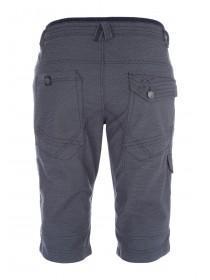 Mens Navy 3/4 Ribbed Shorts