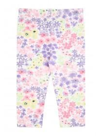 Baby Girls Pink Floral Leggings