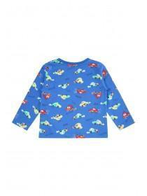 Baby Boys Blue Car Print T-Shirt