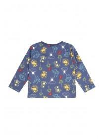 Baby Boys Blue Animal Print T-Shirt